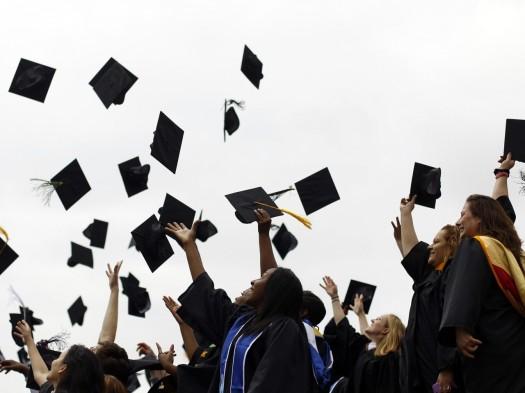 graduation-caps-in-the-air